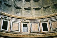 Blind arcading and coffer, Pantheon, Rome 2005